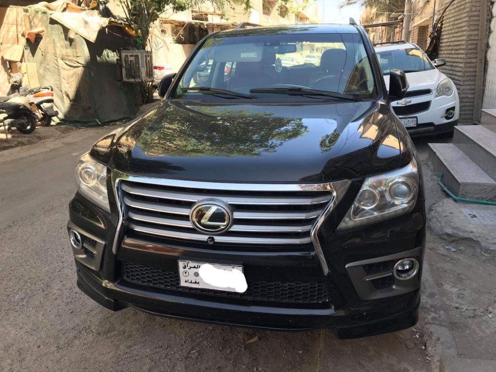 للبيع فقط  لكززس اسود ملكي 2012 رقم  بغداد - صورة4